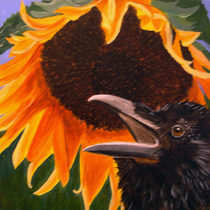 sunflower-crow-kathleen-a-johnson