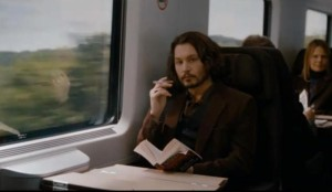 johnny depp on train