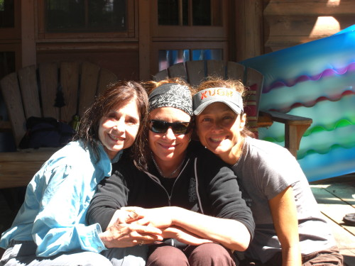 Dale & Adult Daughters at Luna Loon Lodge, Conover, Wisconsin
