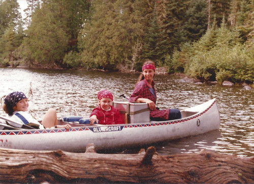 Dale & Young Daughters canoeing in the Boundary Waters Canoe Area in northeastern Minnesota