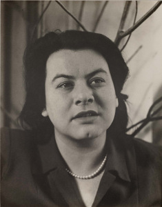 Muriel Rukeyser in 1945 by Imogen Cunningham -- for Empathy post