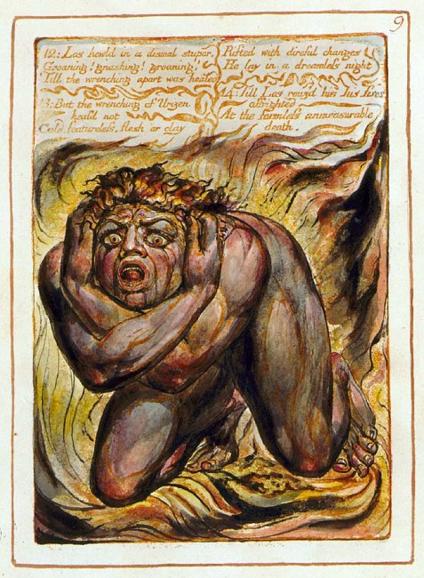 Los from The Book of Urizen William Blake for fear post
