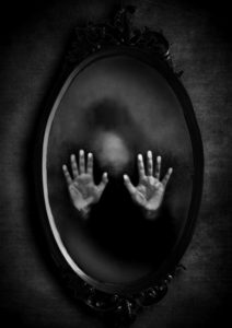 mirror with hands for childhood trauma post