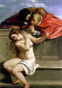 Susanna and the Elders by Gentileschi for speaking out post