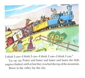 Page from 1954 edition of The Little Engine That Could for Hope blog post