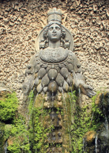 Fountain of Goddess of Ephesus for Mothers blog post