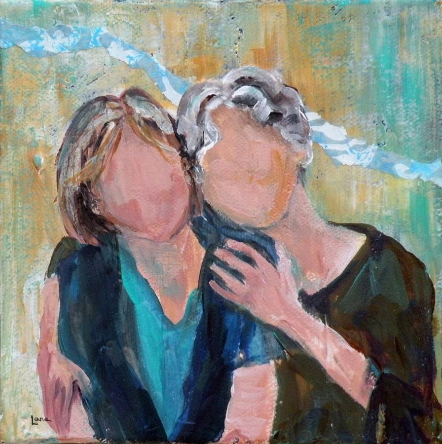 Mother and Daughter by Saundra Lane Galloway for Daughters blog post