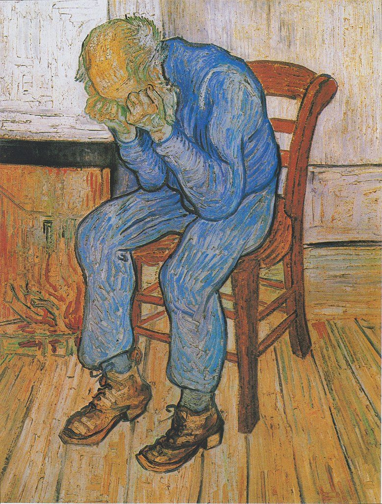 "Sorrowing Old Man (""At Eternity's Gate"") (1890) by Van Gogh for Depression post"