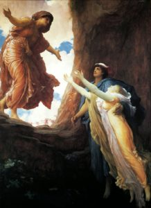 The Return of Persephone (1891), oil on canvas, by Frederic Leighton for Depression post