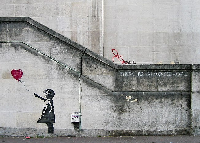 "Girl with Balloon by Banksy for ""Let It Go"" blog post"