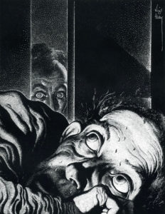 """The Tell-Tale Heart"" by Virgil Finlay for Trauma blog post"