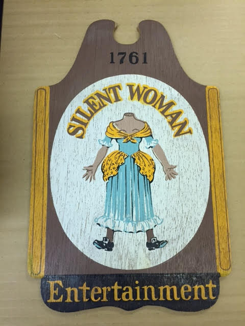 Silent Woman plaque for Women and Silence blog post