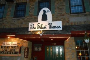 The Silent Woman restaurant in WI in 2015 for Women and Silence blog post