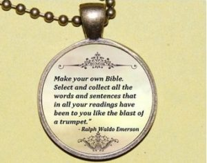 """Make Your Own Bible"" pendant necklace for contemplative writing blog post"