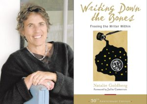 Natalie Goldberg photo with book for contemplative writing blog post