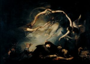 The Shepherd's Dream by Fuseli for Jungian analysis Freudian therapy post