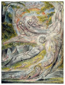 Mysterious Dream by William Blake for Jungian Dreams blog post