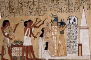 Opening of the Mouth Ceremony. Papyrus of Hunefer (1275 BC) For rituals blog post