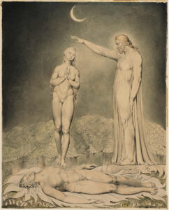 """The Creation of Eve"" from Illustrations to Milton's Paradise Lost by William Blake (1808)"