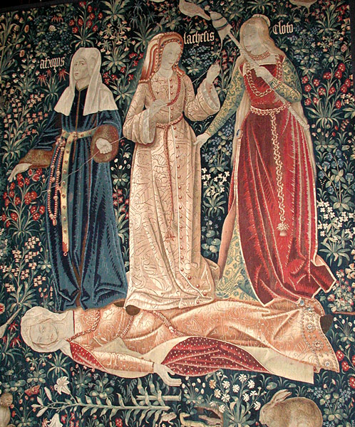 The Three Fates, Flemish tapestry for fate and destiny blog post
